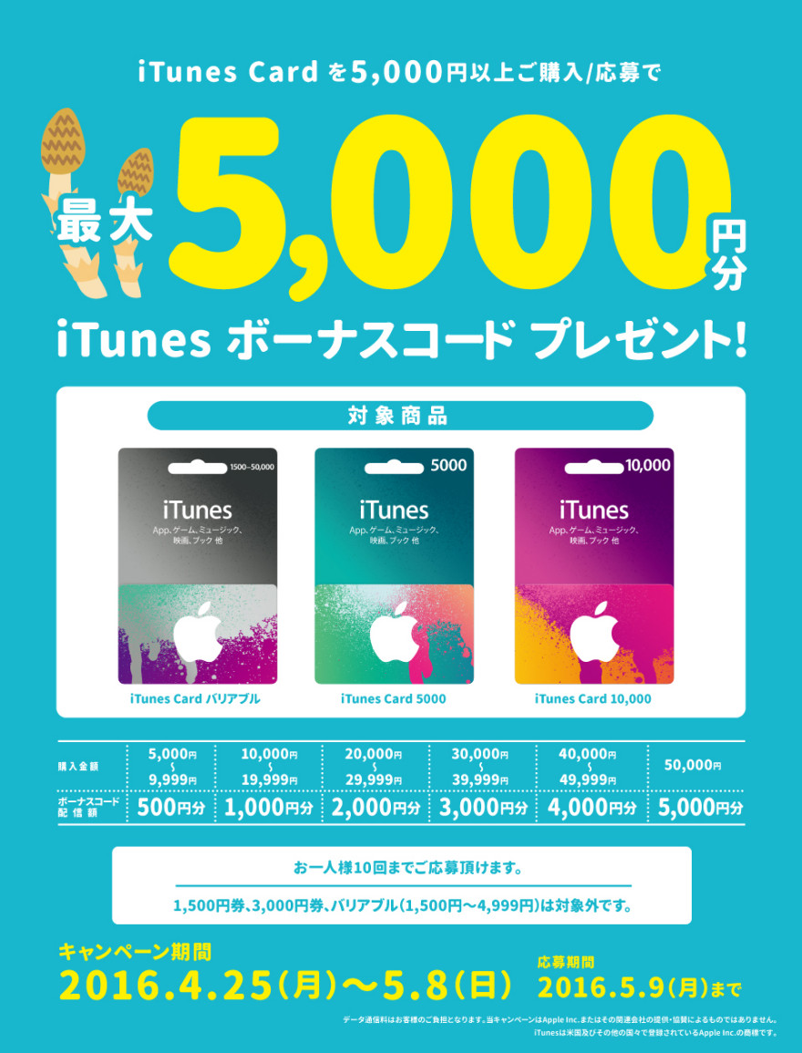 TSUTAYA iTunes Card キャンペーン!お知らせ
