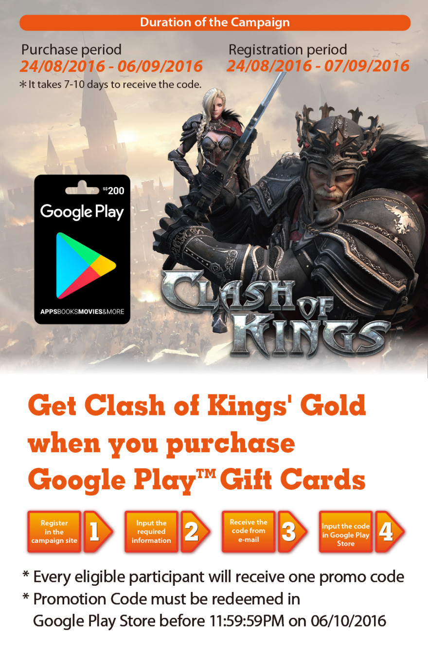 7-Eleven & Clash of Kings Game Promo Code Item Giveaway Campaign!Start Notice