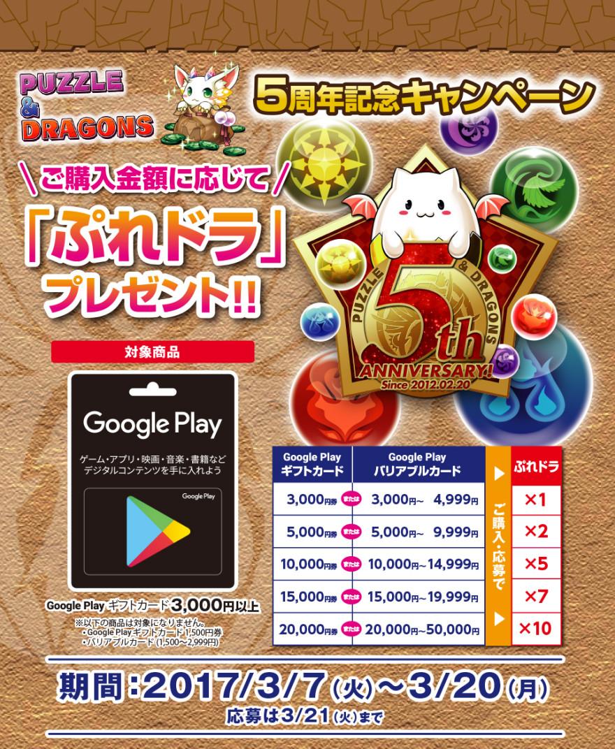 サークルK・サンクス Google Play ギフトカード パズドラキャンペーン!お知らせ