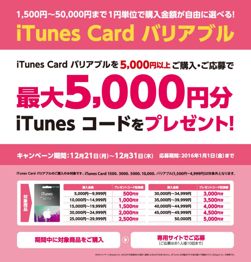 サッポロドラッグストアー iTunes Card キャンペーン!お知らせ
