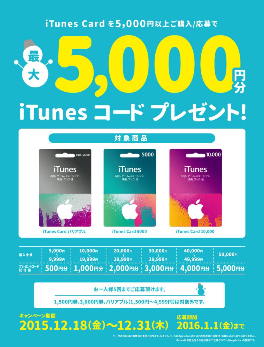 TSUTAYA iTunes Cardキャンペーン!お知らせ