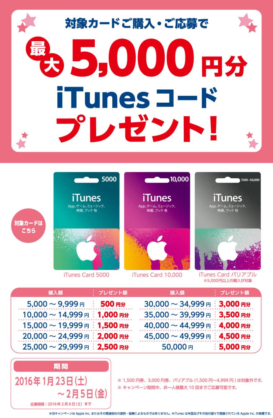 ココカラファイン iTunes Card キャンペーン!お知らせ